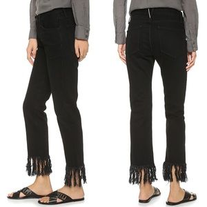• 3x1 • Wm3 Straight Crop Fringe Jeans Tango Black